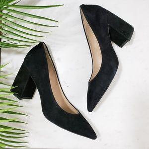 Sam Edelman Tatiana leather chunky heels suede